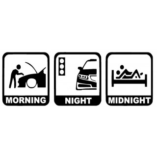 Stickers MORNING / NIGHT / MIDNIGHT