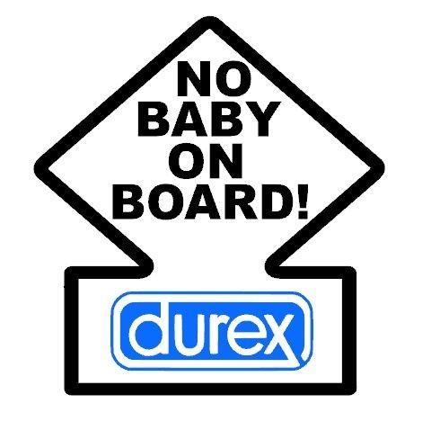 stickers no baby on board grafik stick