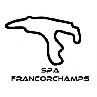 Stickers TRACÉ CIRCUIT SPA FRANCORCHAMPS