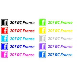 Stickers GROUPE 207 RC France