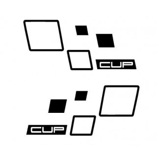 Stickers RENAULT SPORT DAMIER CUP X2