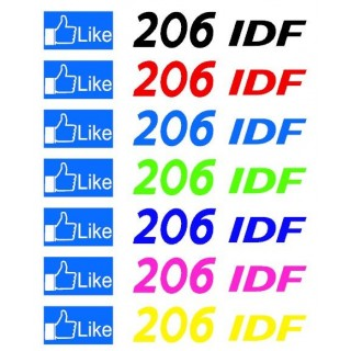 Stickers GROUPE LIKE 206 IDF