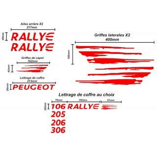 Kit Complet Personnalisable Rallye PTS FULL RED