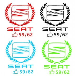 Stickers Seat 59/62 Couronne