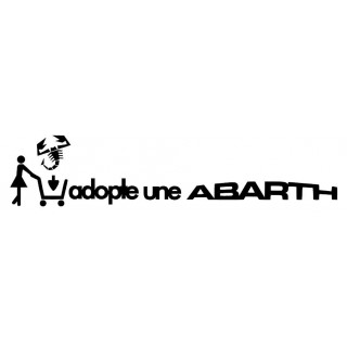 Stickers Adopte une Abarth