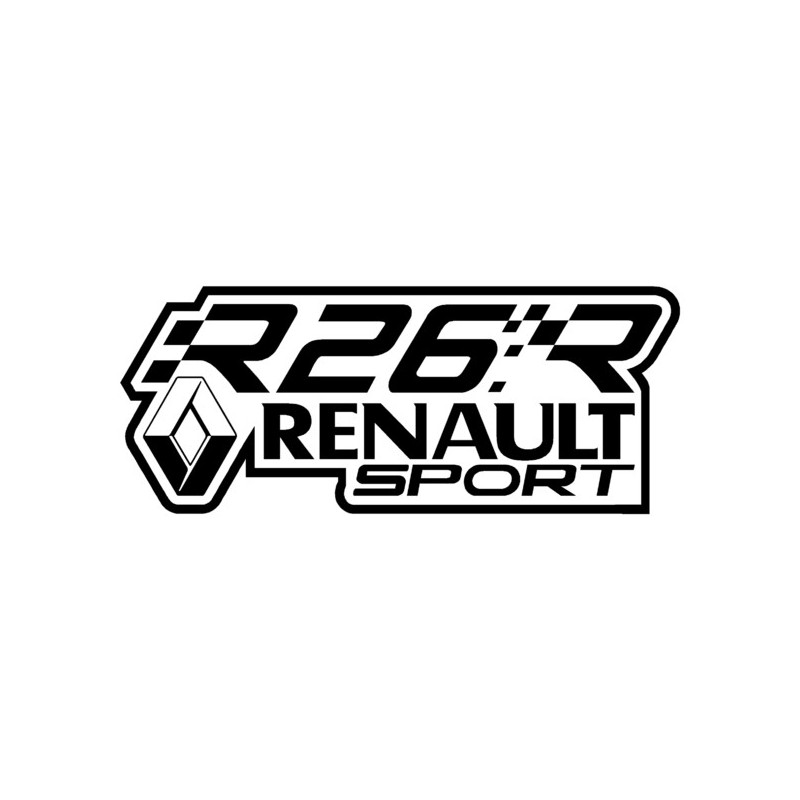 stickers r26r renault sport grafik stick. Black Bedroom Furniture Sets. Home Design Ideas