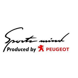 Stickers SPORT MIND PEUGEOT