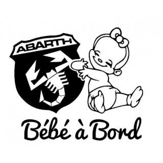 Stickers BÉBÉ A BORD Abarth Fille