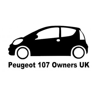 Stickers Peugeot 107 Owners UK