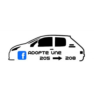 Stickers Groupe Adopte une 205 / 208 (Mix 205 GTI et 208 GTI)