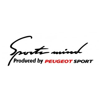 Stickers SPORT MIND PEUGEOT SPORT