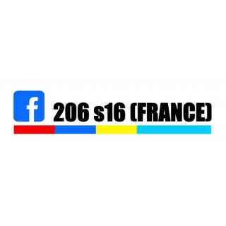 Stickers 206 S16 France PTS 1