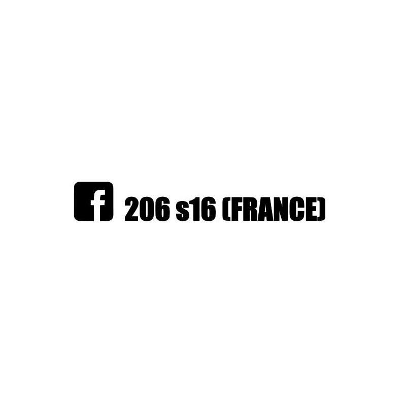 Stickers 206 S16 France