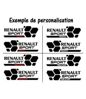 Paire de Stickers Renault Sport Style RS16