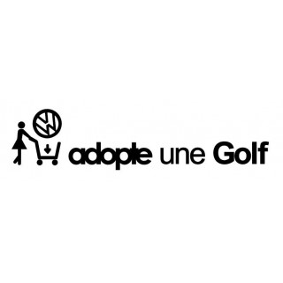 Stickers ADOPTE UNE GOLF