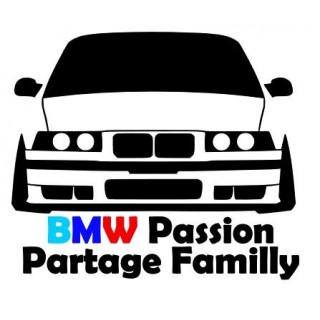Stickers BMW Passion Partage Familly
