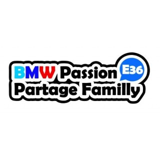 Stickers BMW Passion Partage Familly Version 2