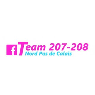 Stickers GROUPE 207-208 FACEBOOK NPDC MAGENTA