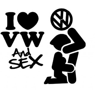 Stickers LOVE VW AND SEX
