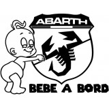 Stickers BÉBÉ A BORD FIAT ABARTH