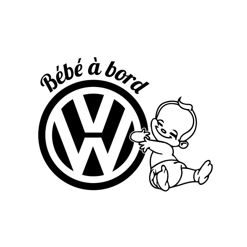 Stickers BÉBÉ A BORD VW