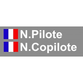 KIt Lettrage Pilote - Copilote