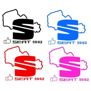 Stickers Seat 59/62 Couleur unis