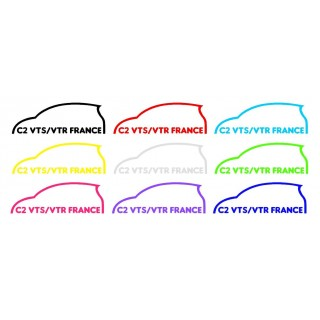 Stickers Groupe Citroën C2 VTS/VTR France