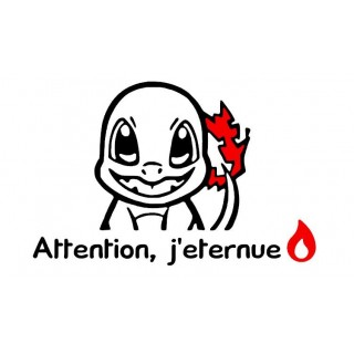 Stickers ATTENTION J'ÉTERNUE