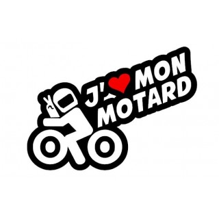 Stickers J'AIME MON MOTARDS