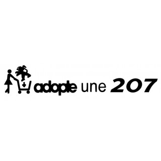 Stickers ADOPTE UNE 207