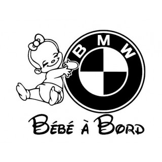 Stickers BÉBÉ A BORD BMW FILLE