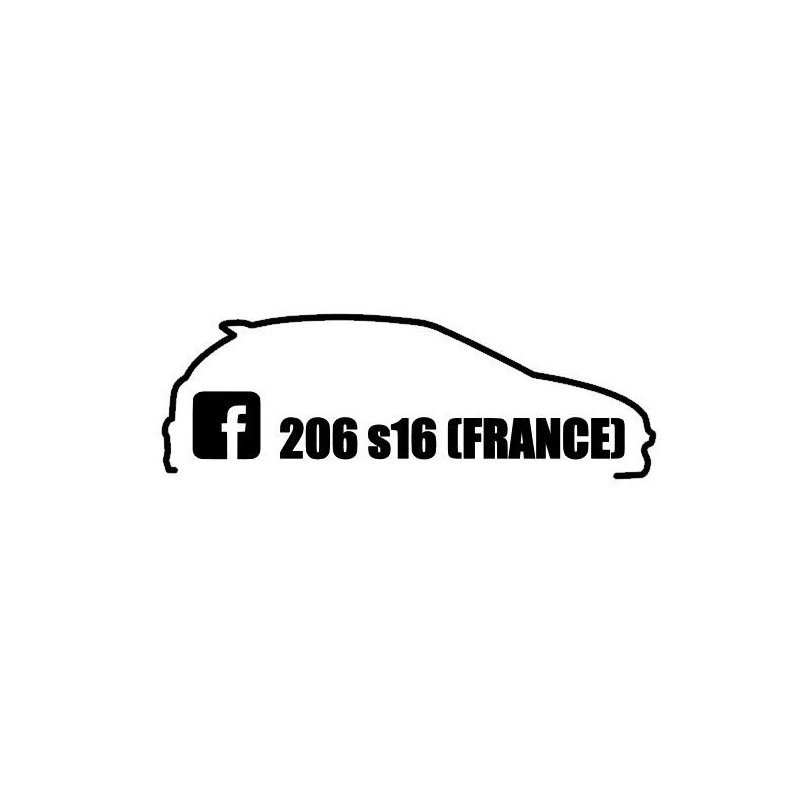 Stickers 206 S16 France Simple