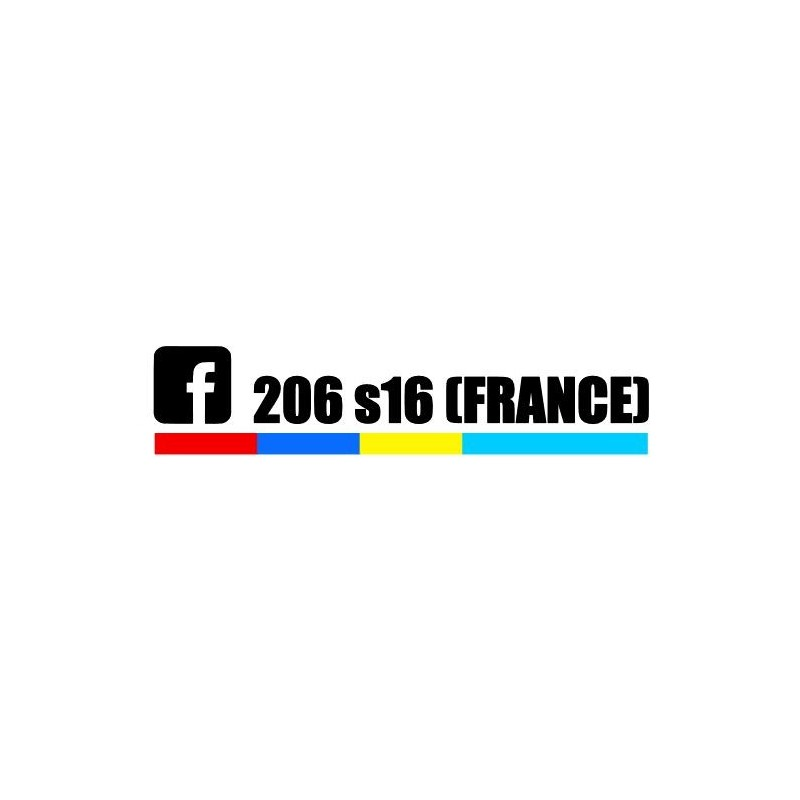 Stickers 206 S16 France PTS 2