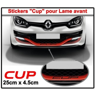 Stickers CUP pour lame Avant Clio 4RS