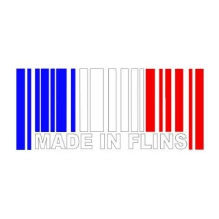 Stickers MADE IN FLINS Tri color