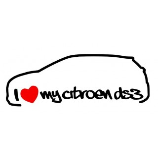 Stickers I Love My Citroën DS3 Gauche