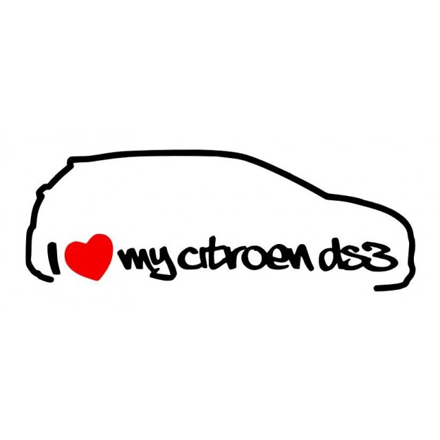 Stickers I Love My Citroën DS3 Droit