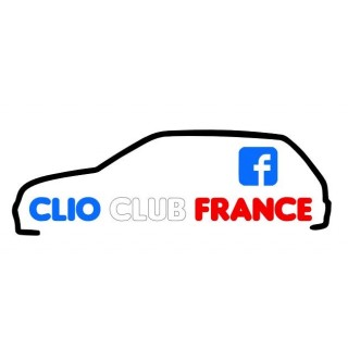 Stickers Groupe Clio Club France Tri Color (clio 1)