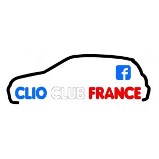 Stickers Groupe Clio Club France Tri Color