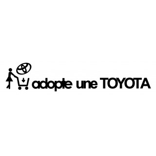 Stickers Adopte une Toyota