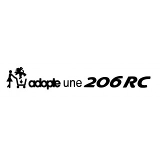 Stickers ADOPTE UNE 206 RC