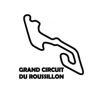 Stickers TRACÉ GRAND CIRCUIT DU ROUSSILLON