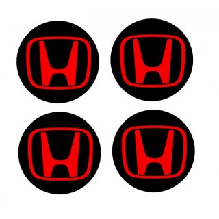 "Stickers 4 Centres de jante Diamètre 68mm ""H"" Honda"