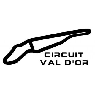 Stickers TRACÉ CIRCUIT VAL D'OR