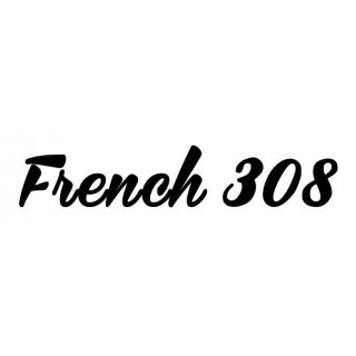 Stickers  FRENCH 308 LETTRAGE DROIT