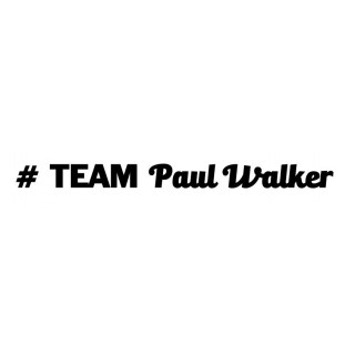 Stickers TEAM PAUL WALKER