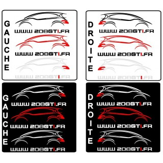 Stickers SITE 208GTI.FR