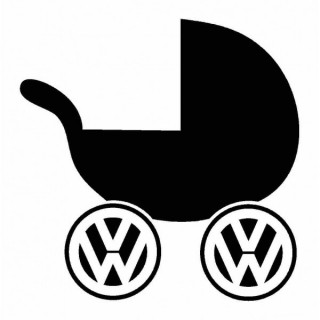 Stickers Poussette VW