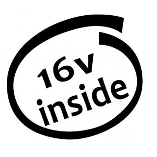 Stickers 16V INSIDE